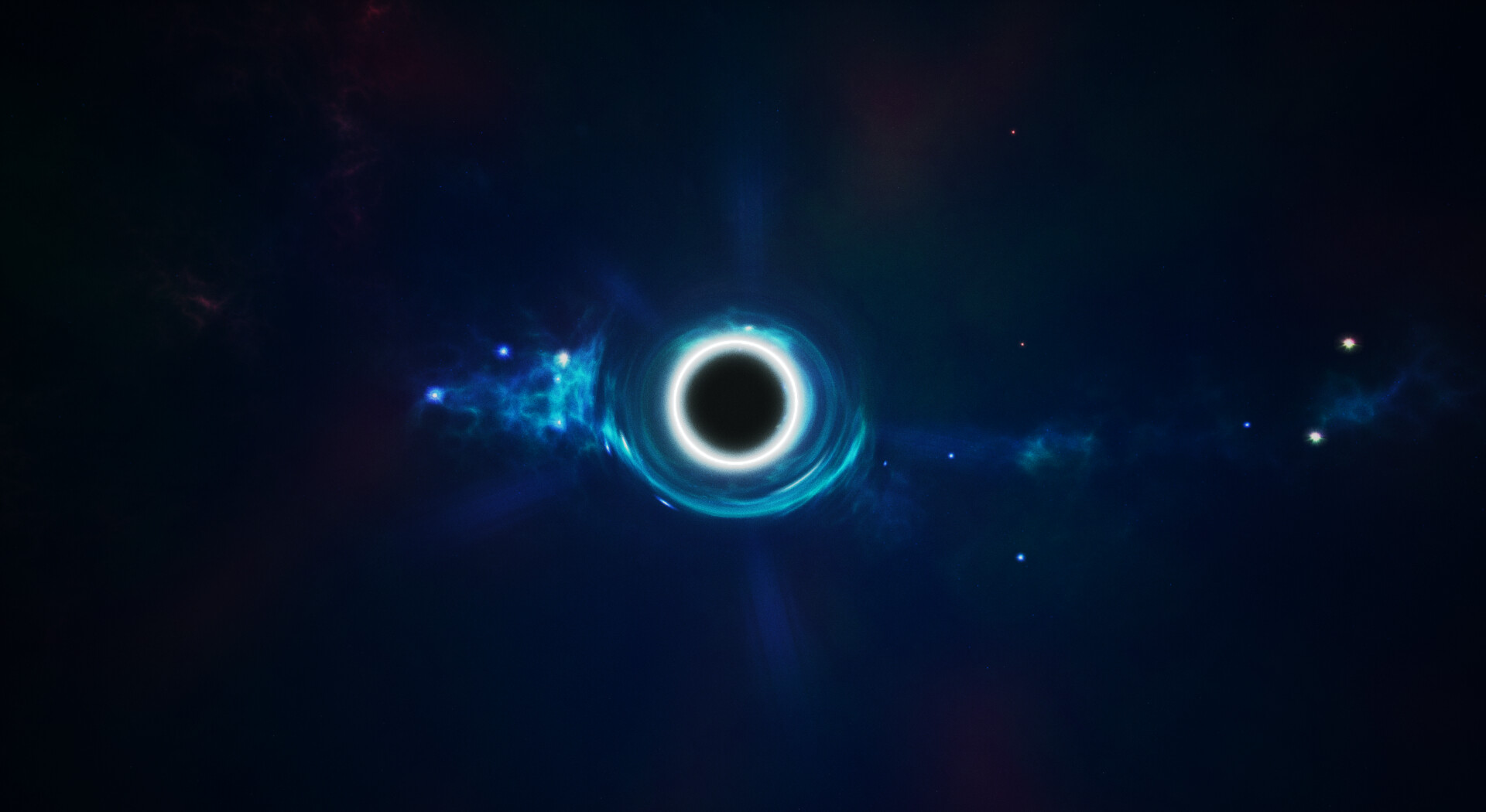 Black hole with an accretion disk.