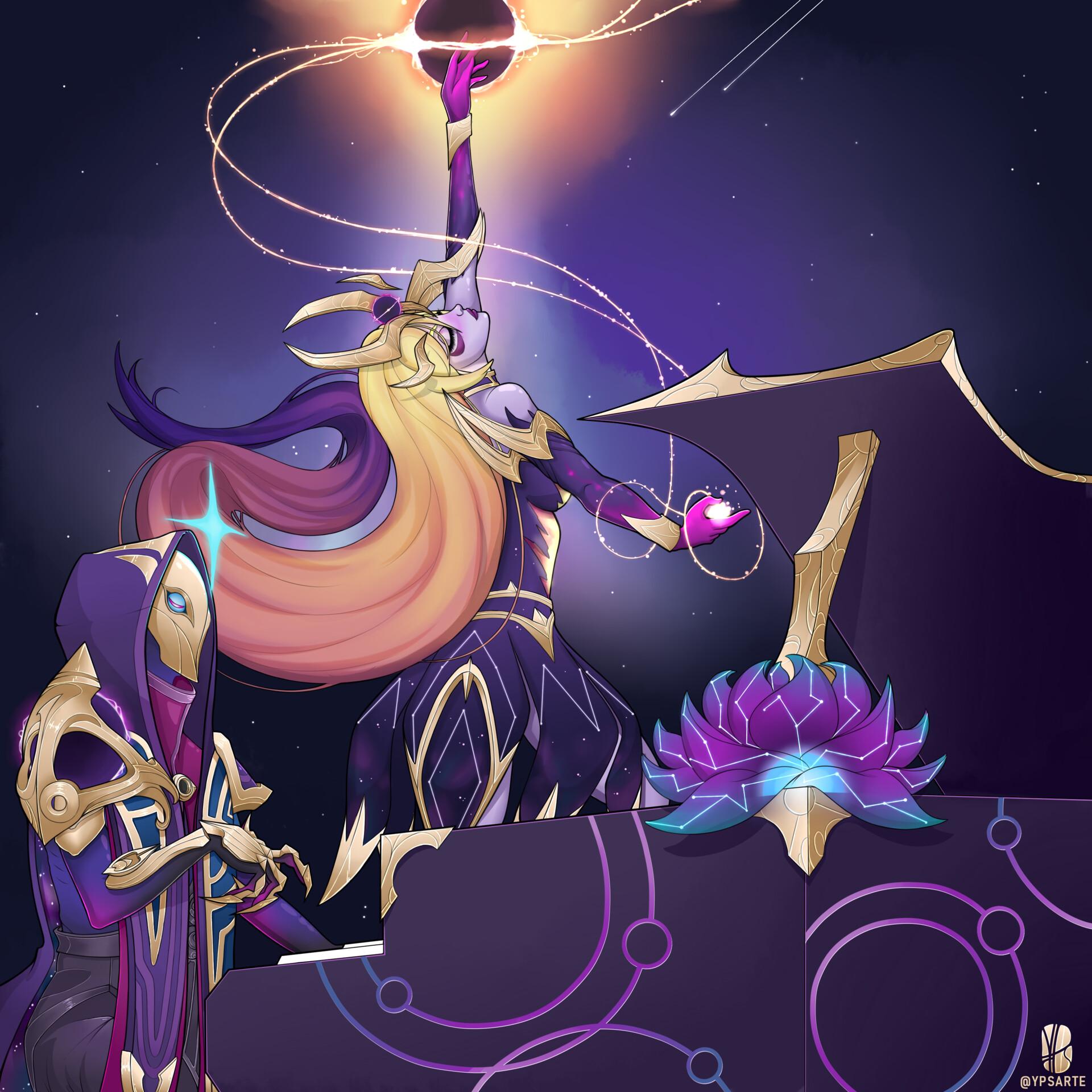 Requiém Cósmico - Jhin e Lux cósmos negro - Resultado final.