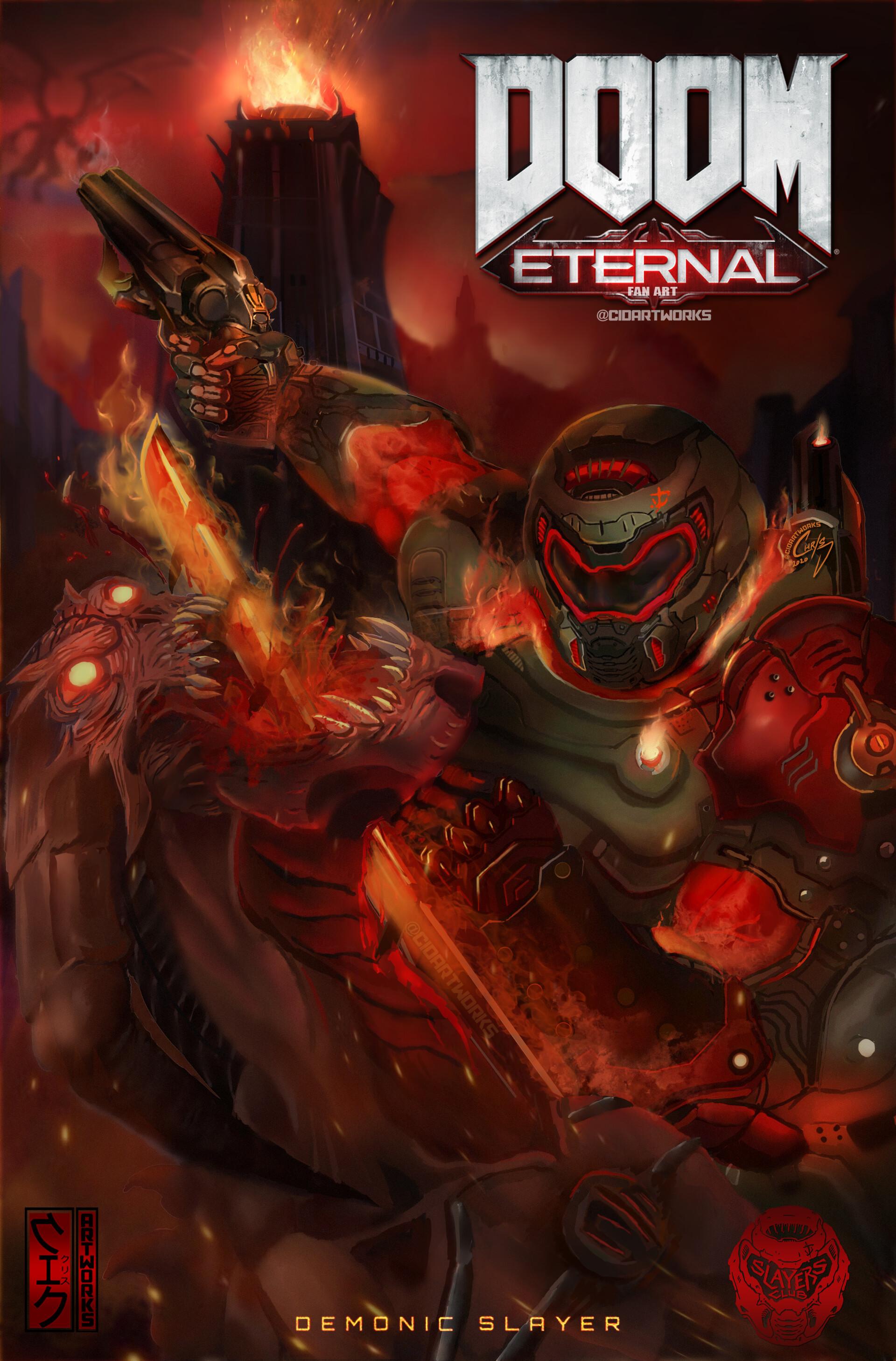 doom eternal doom slayer art