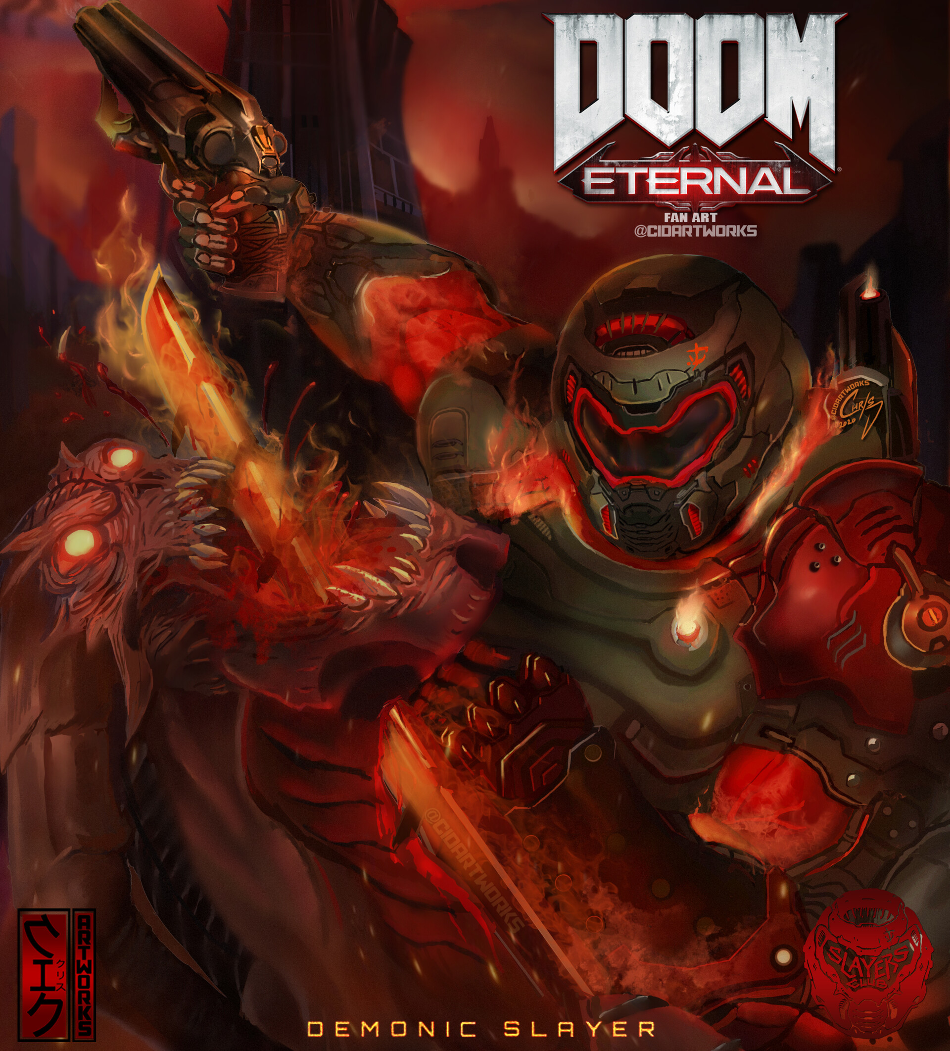 Artstation Doom Eternal Fan Art Whiplash Chris D Cid
