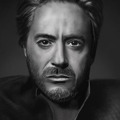 Robert Downey Jr Portrait