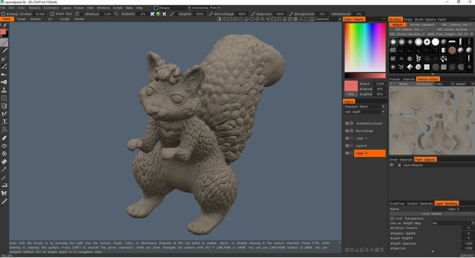 Baking normals and ambient occlusion textures