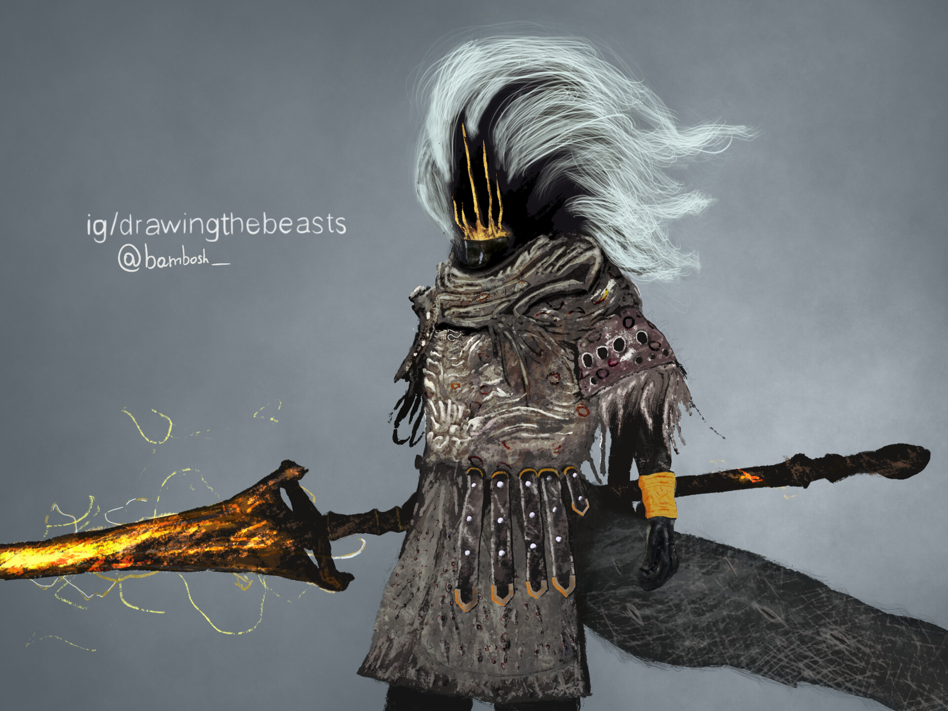 Artstation I Ve Drawn Nameless King From Dark Souls 3