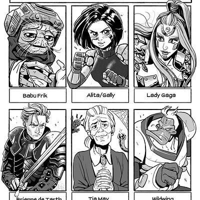 Fred hildebrand six characters chalenge insta