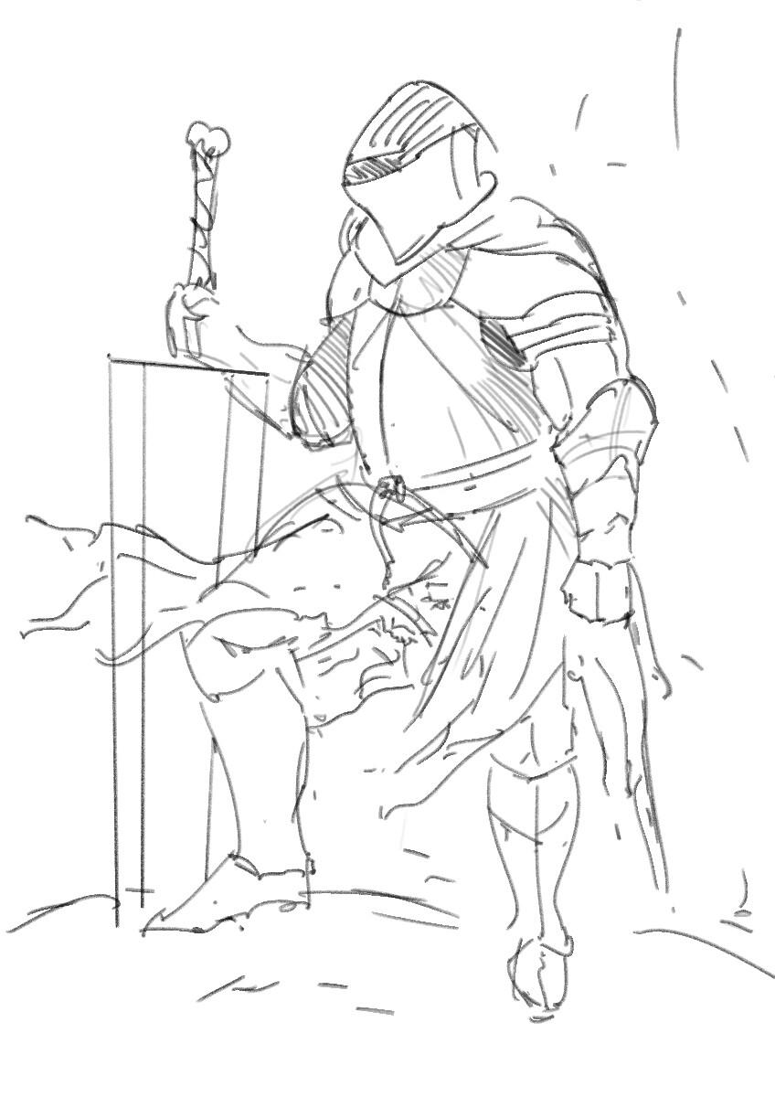 Sketch, final idea.