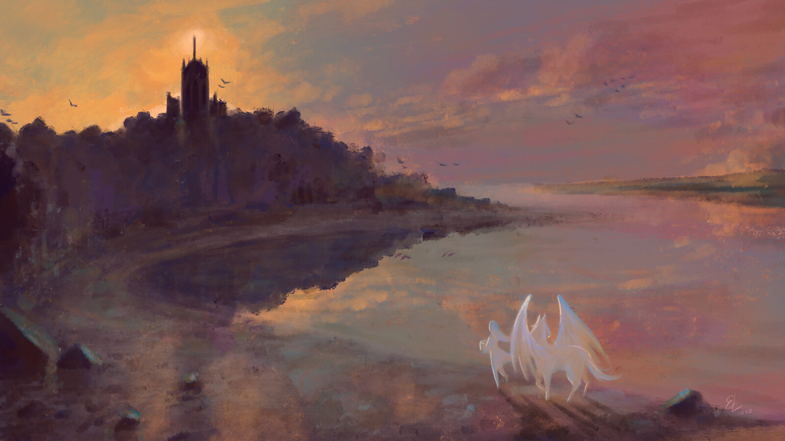 By the Shore - Quick Sketch