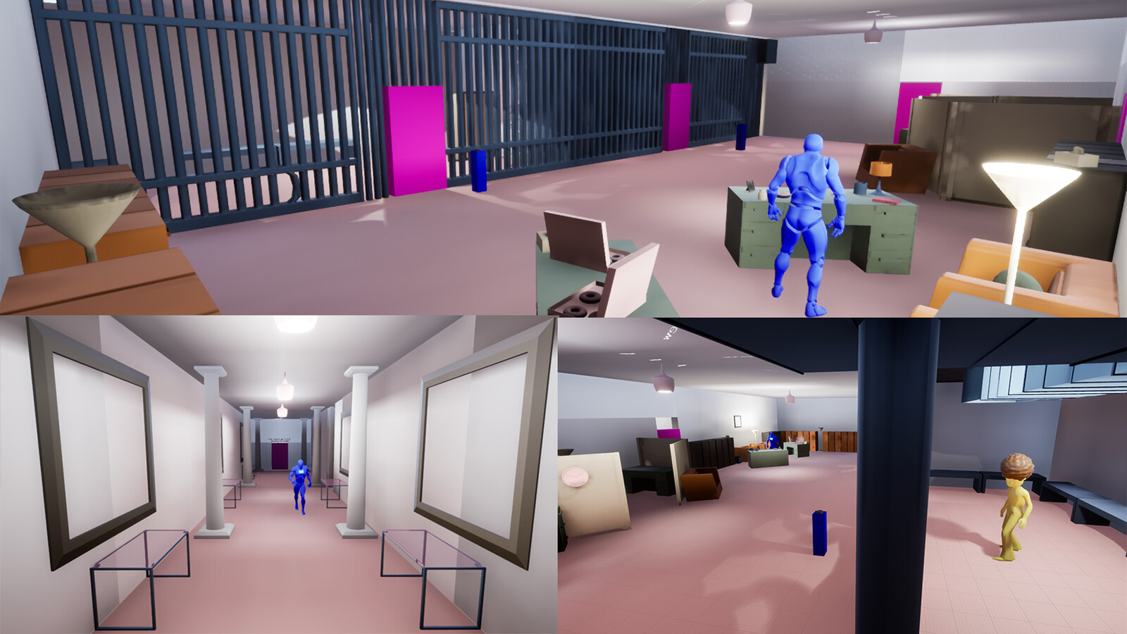 Some shots of jail cell level.