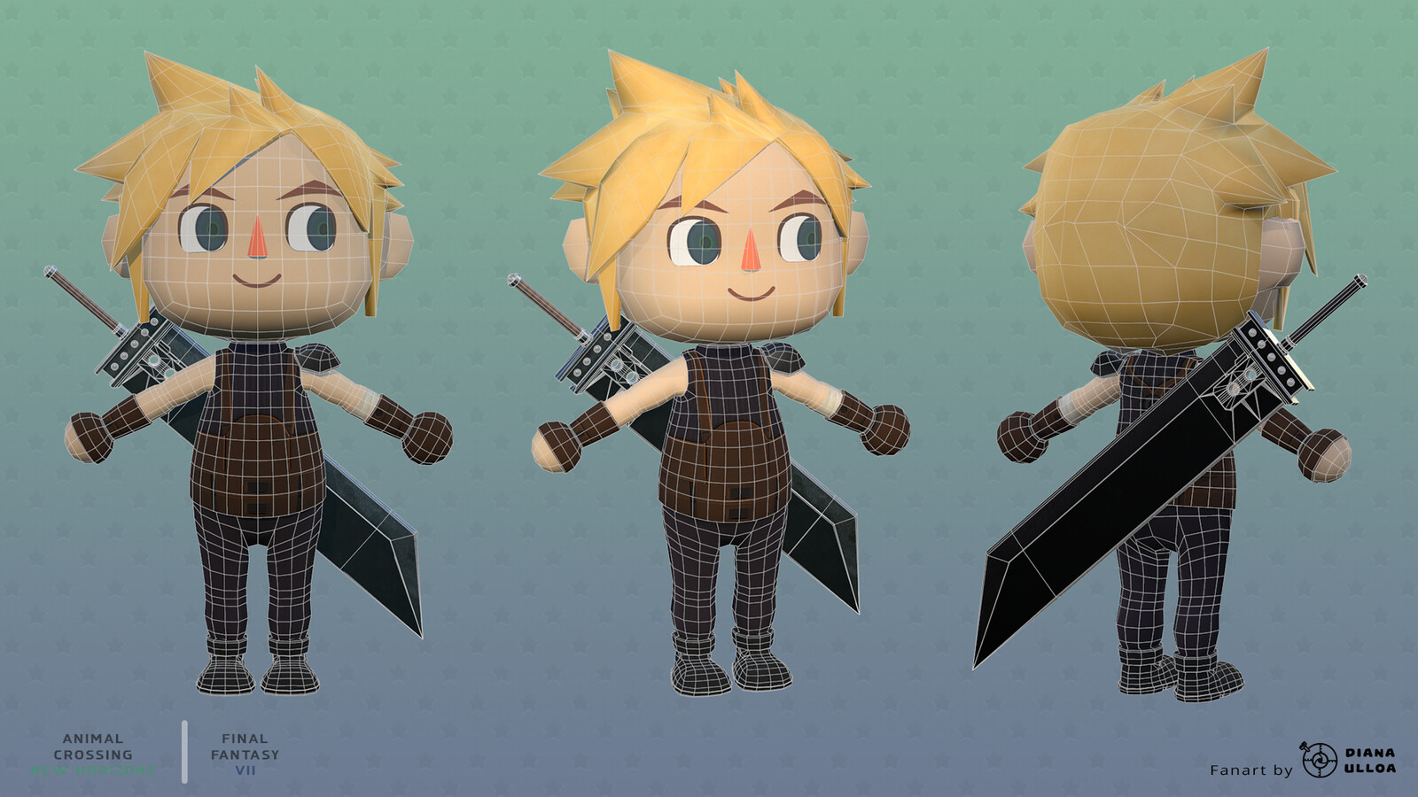 Villager Cloud Wireframe