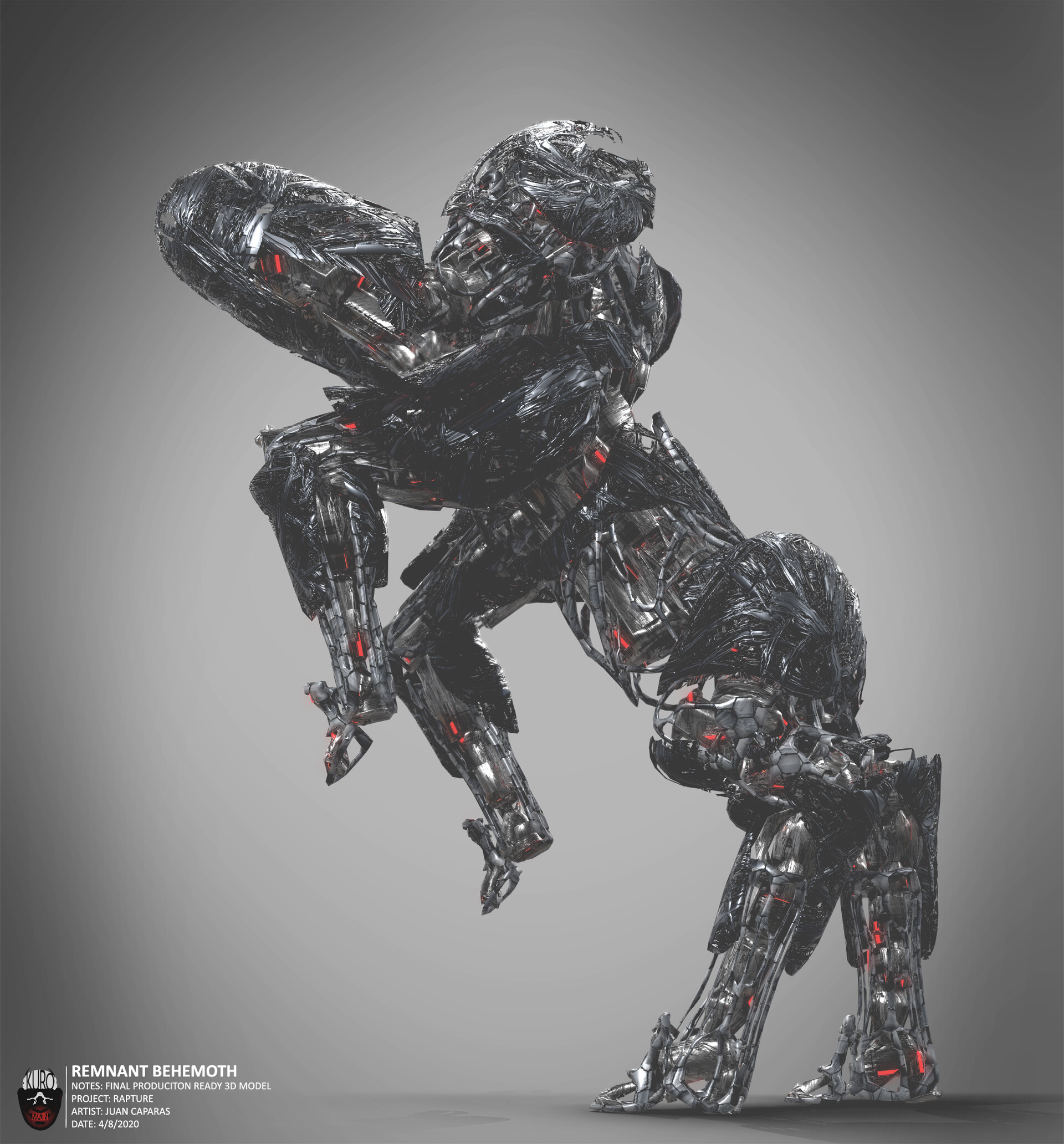 Remnant Behemoth 3D Model  Kuro Majin Productions