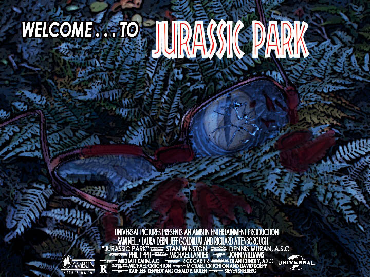 Artstation Jurassic Park R Rated Teaser Poster 1993 Nate Senay