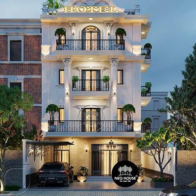 Neohouse architecture thiet ke khach san kieu phap 5 tang 1