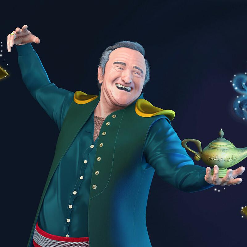 Robin Williams as the Genie