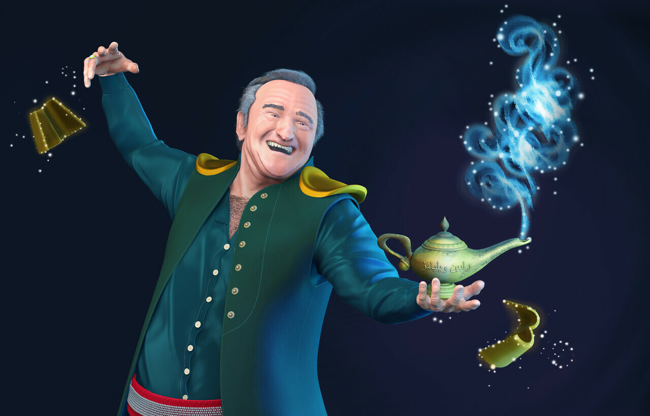 Robin Williams as the Genie