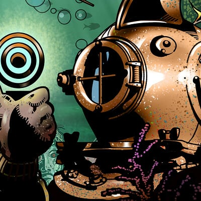 More underwater steampunk zombies!