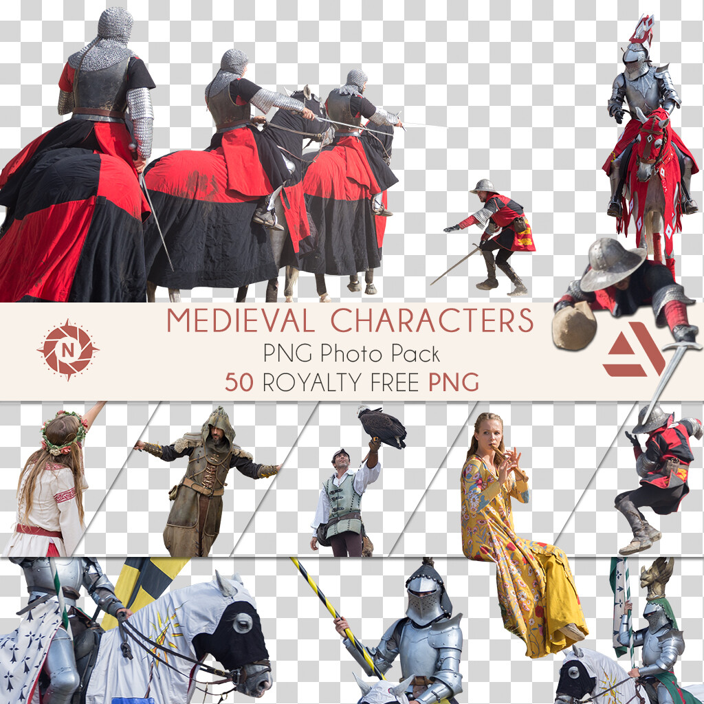 PNG Photo Pack: Medieval Characters  https://www.artstation.com/a/165856