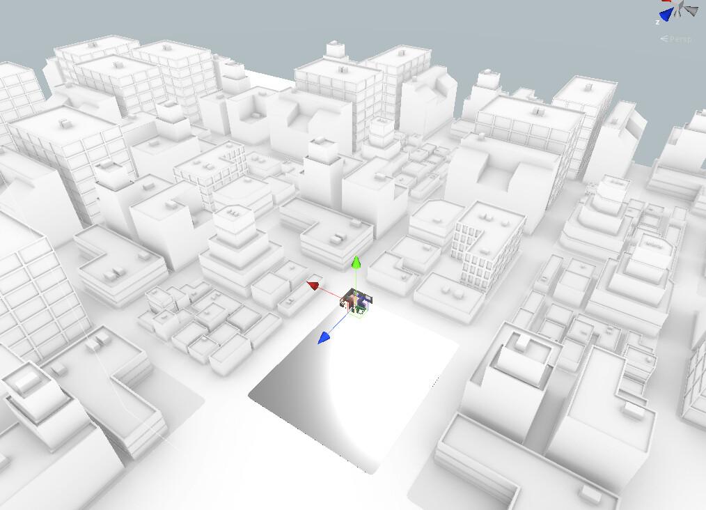 Modular stylized cityscape