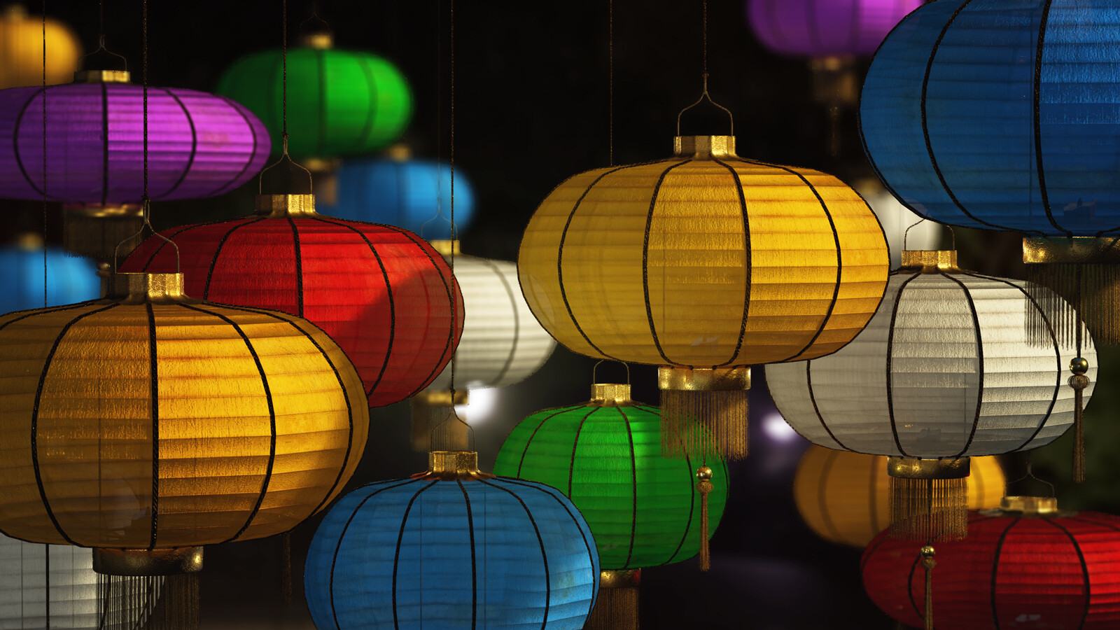 Patreon 3D Model Archive: Paper Lanterns