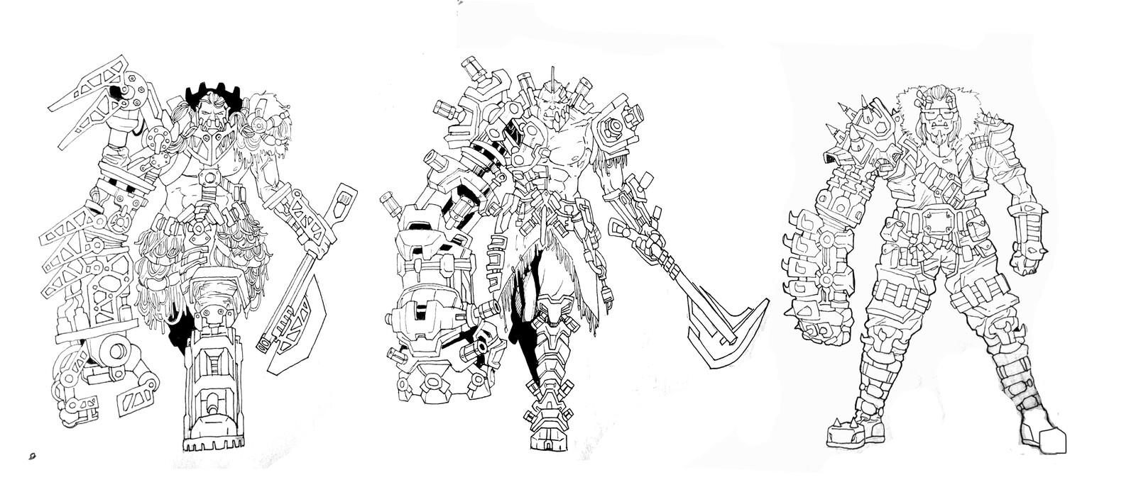 First line sketches.