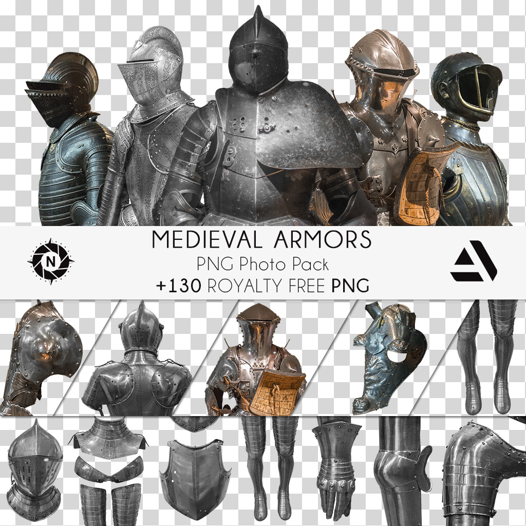 PNG Photo Pack: Medieval Armors  https://www.artstation.com/a/165715