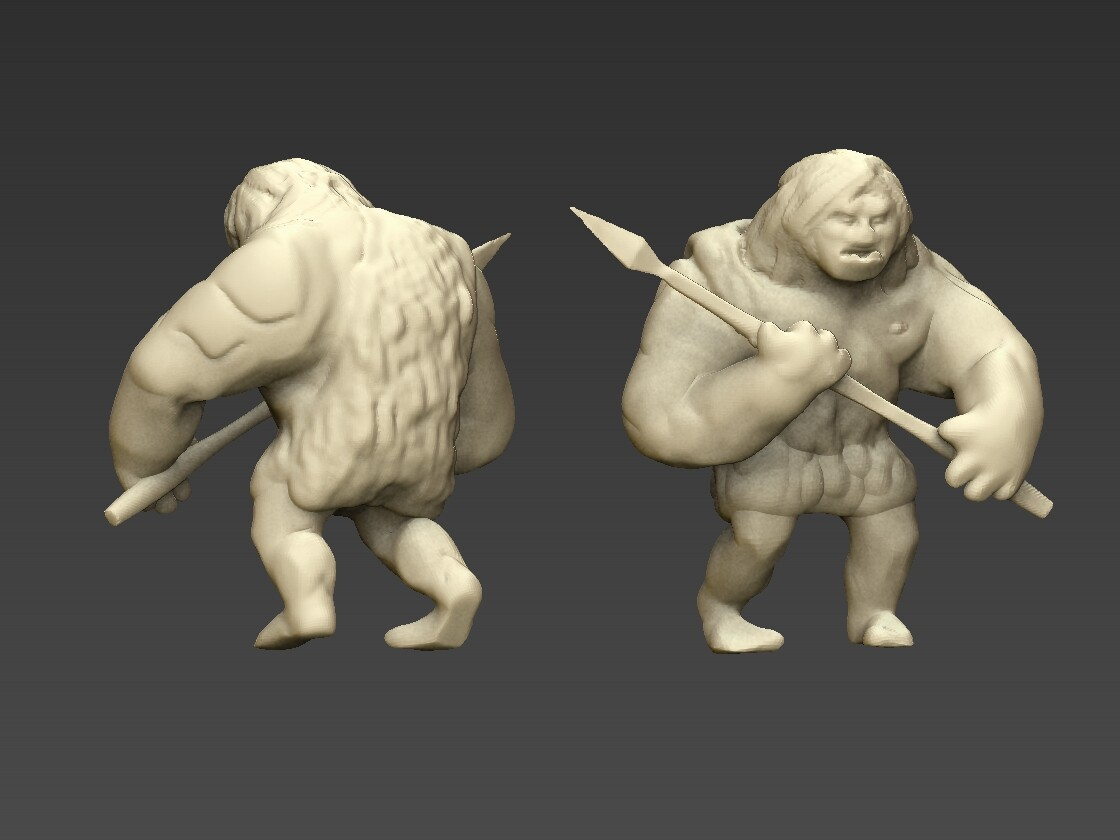 Caveman - From Zbrush to 3D print