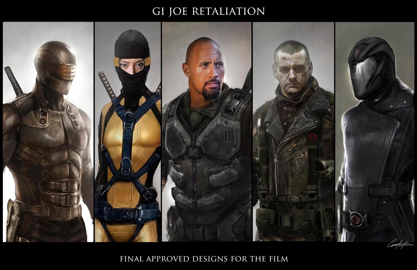 Gi Joe Retaliation final character film Concepts