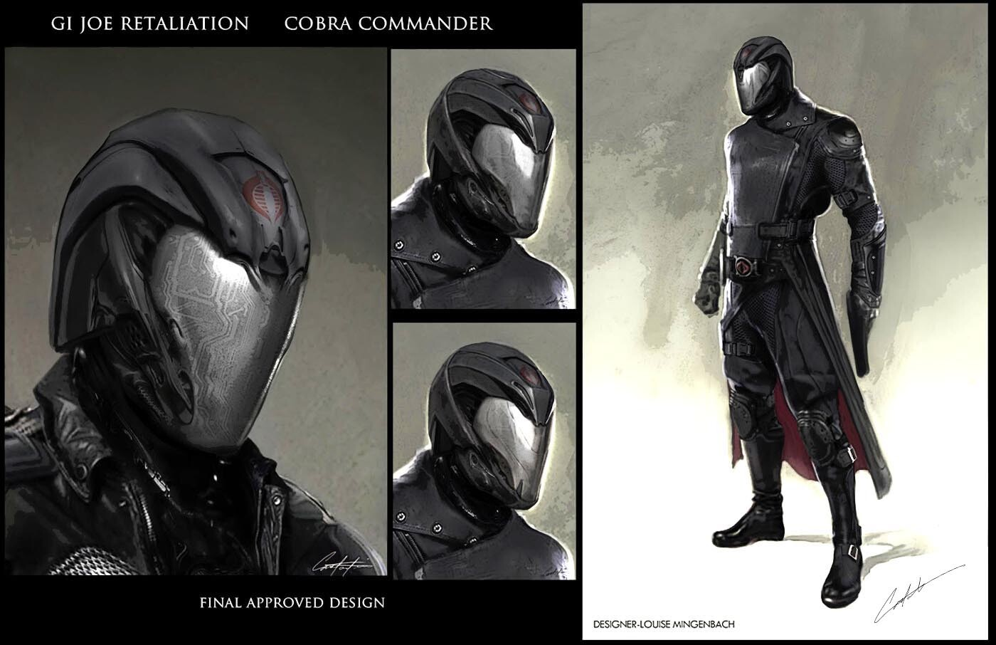 Cobra Commander final film helmet and character Concepts