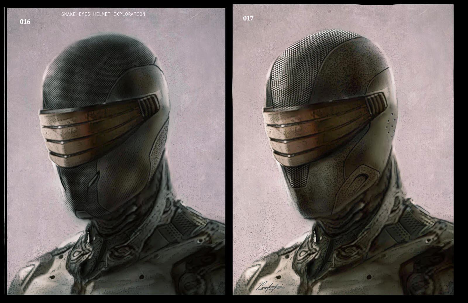 Snake Eyes helmet exploration Concepts