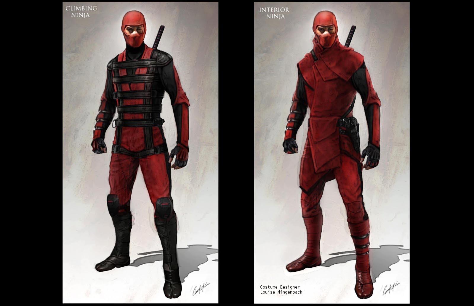 Red Ninja Costume Concepts