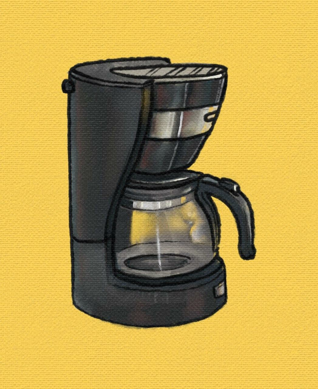 Coffeemaker. I like the texture mode on Infinite Painter, should find a way to introduce it to my workflow more often.