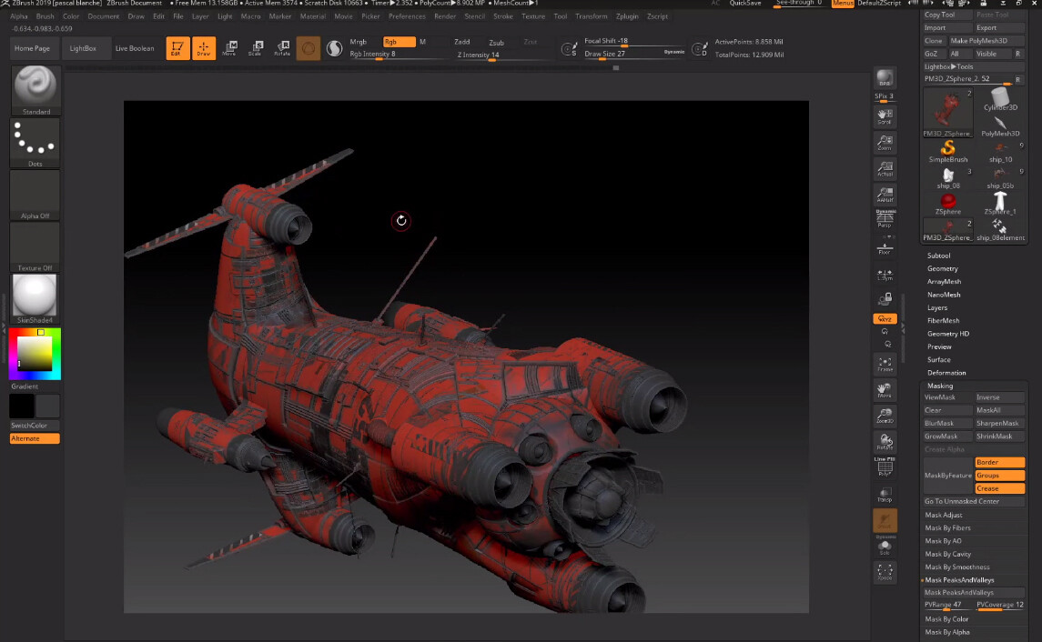 You Check the creation of this Spaceship here: https://www.twitch.tv/videos/591833572