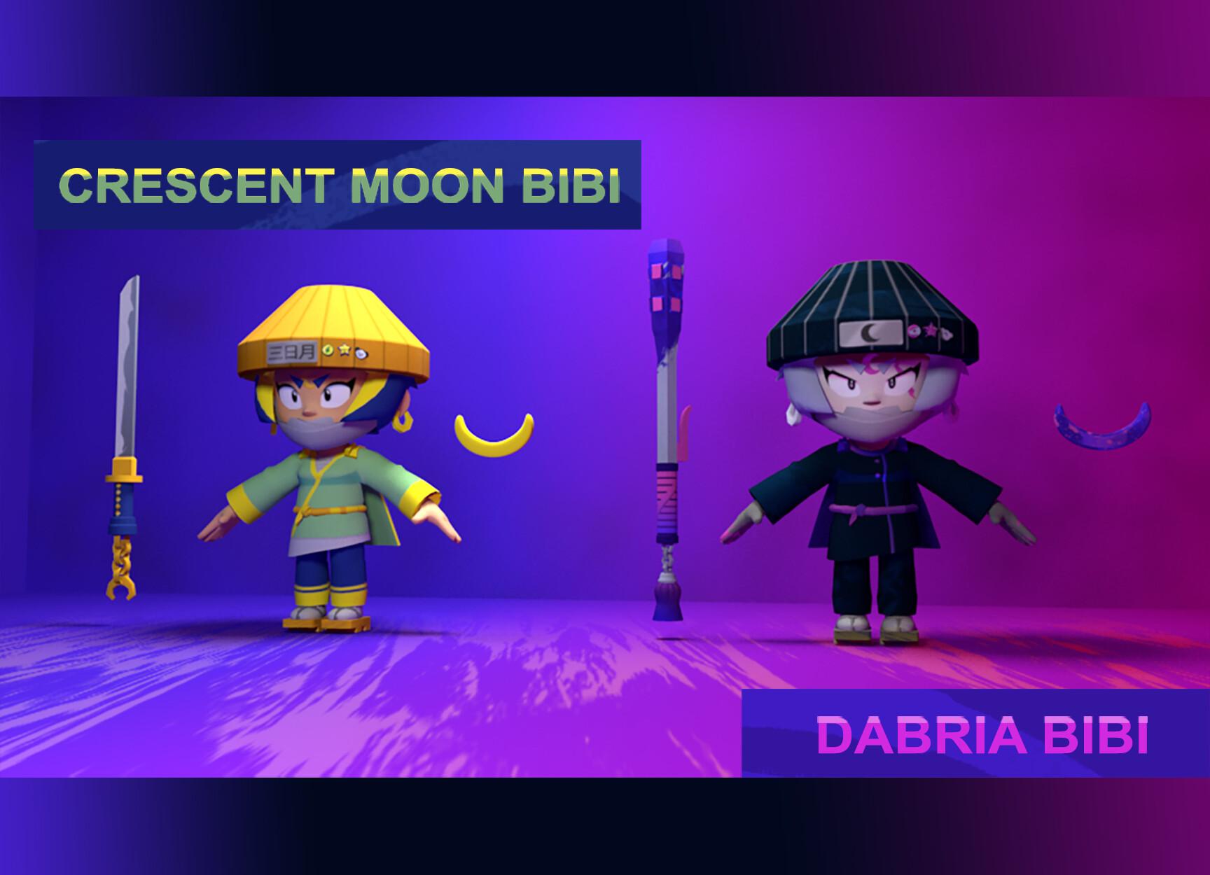 ArtStation - Crescent Moon Bibi & Dabria Bibi (Brawl Stars Skin