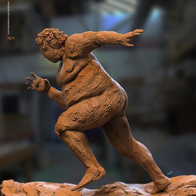 Surajit sen run digital sculpture surajitsen april2020ss