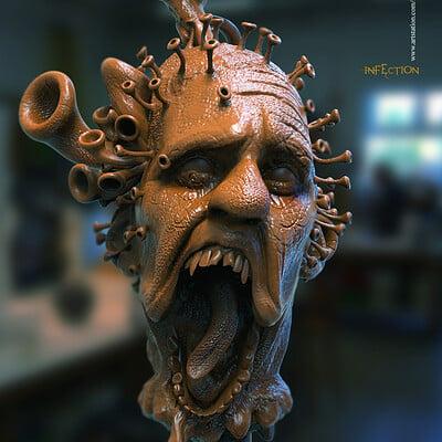 Surajit sen infection digital sculpture surajitsen april2020aa