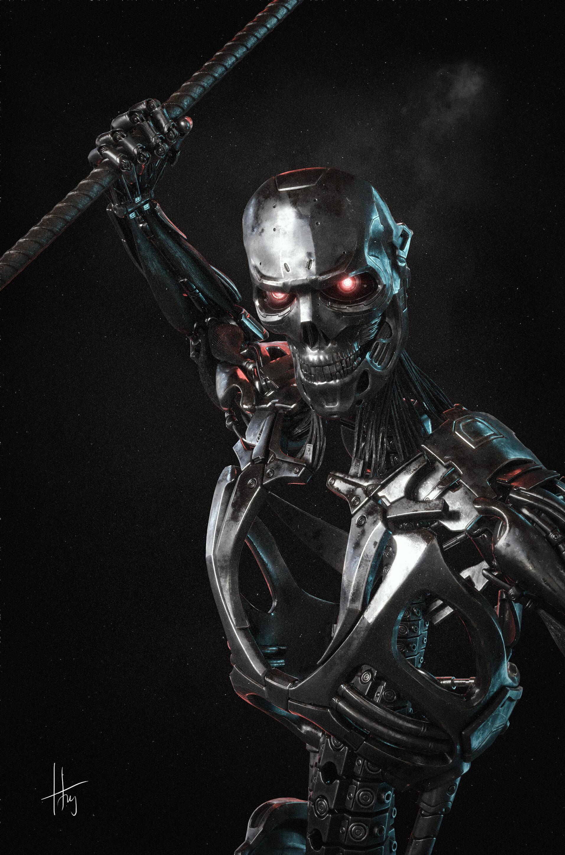 Artstation Terminator Dark Fate Fan Art Tung Le