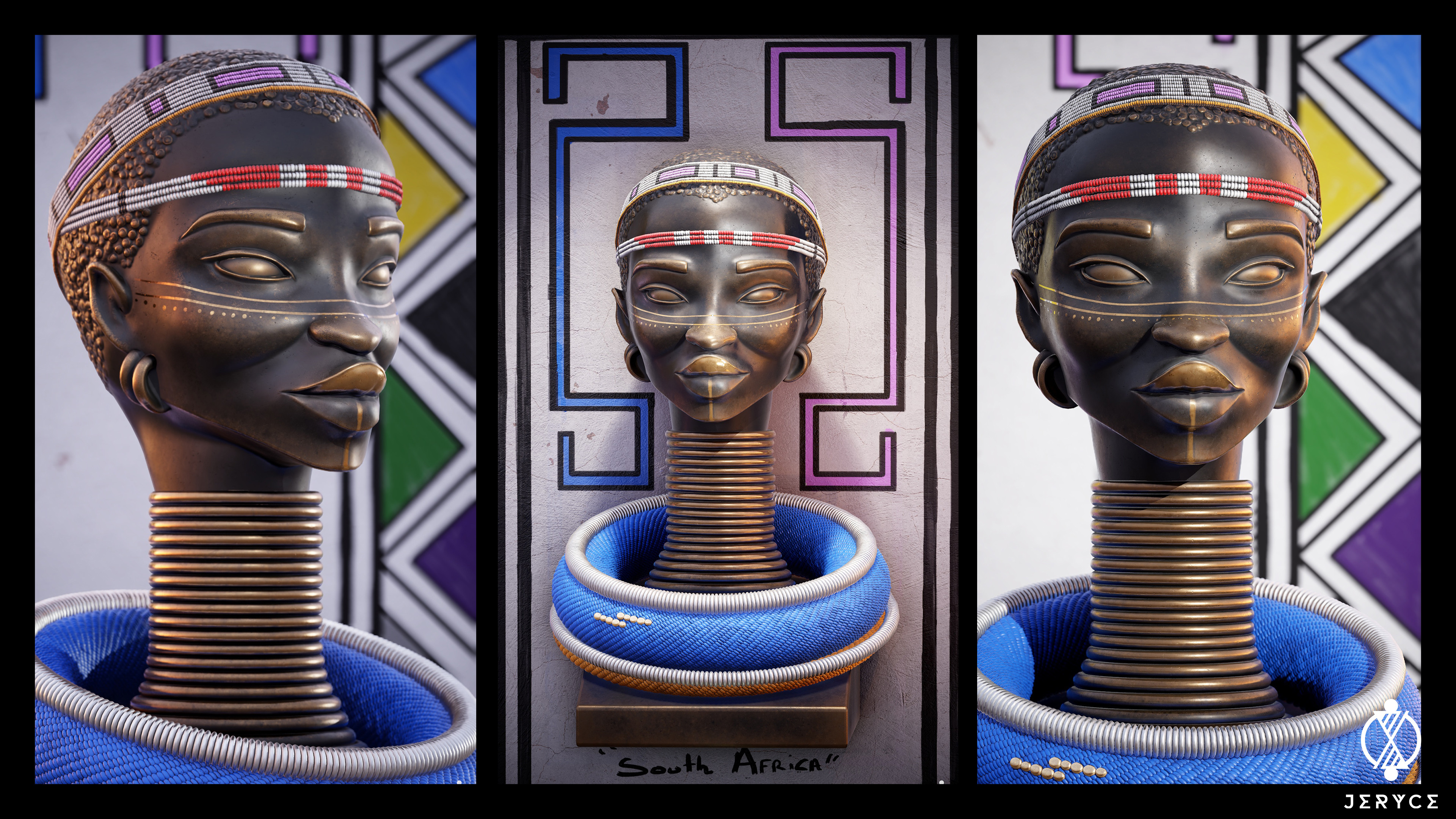 Bust representing a Ndebele Woman