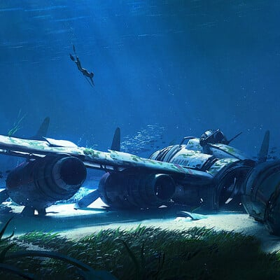 Yoan vernet scubahunting 007 flattenpaintover with signature lowrez