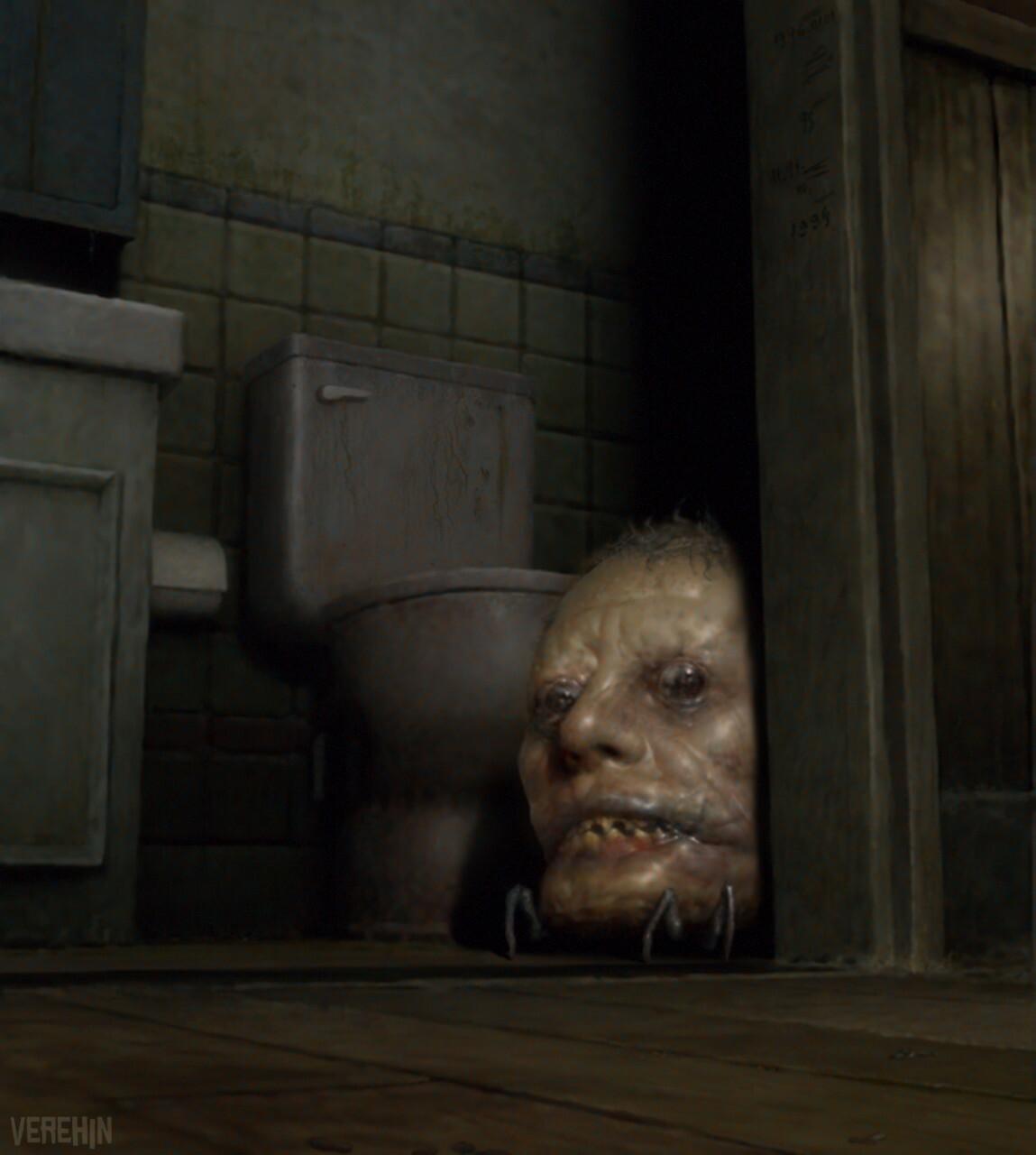 Rustle in the bathroom