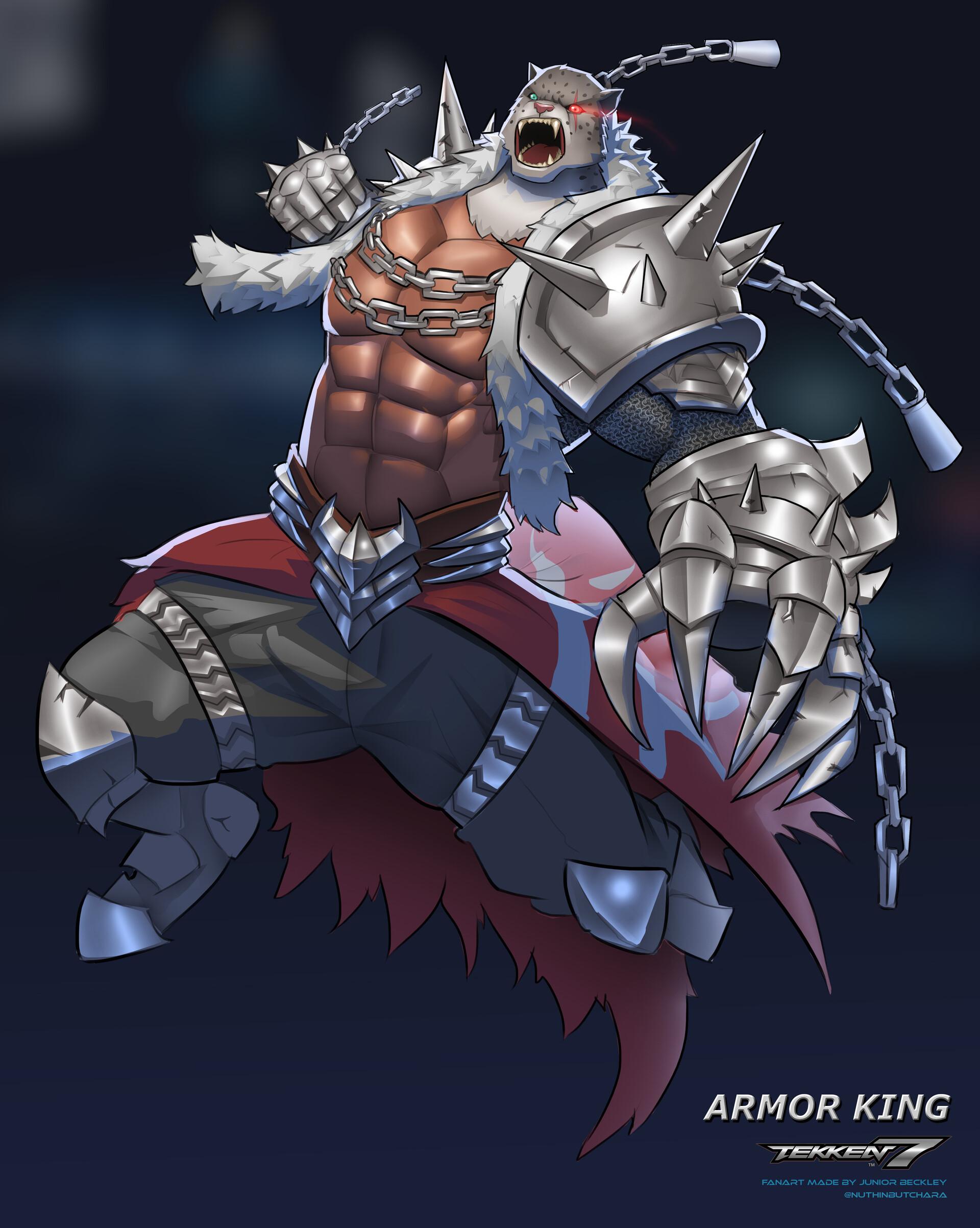 Artstation Tekken 7 Armor King Fanart Junior Beckley