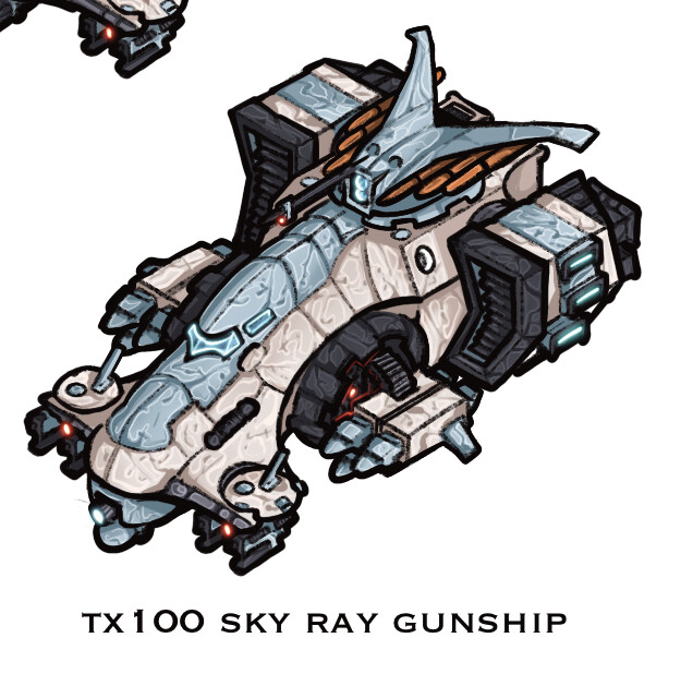 Tx100 Sky Ray Gunship