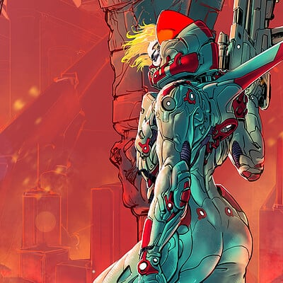 Atom cyber destroy all robots poster without titles