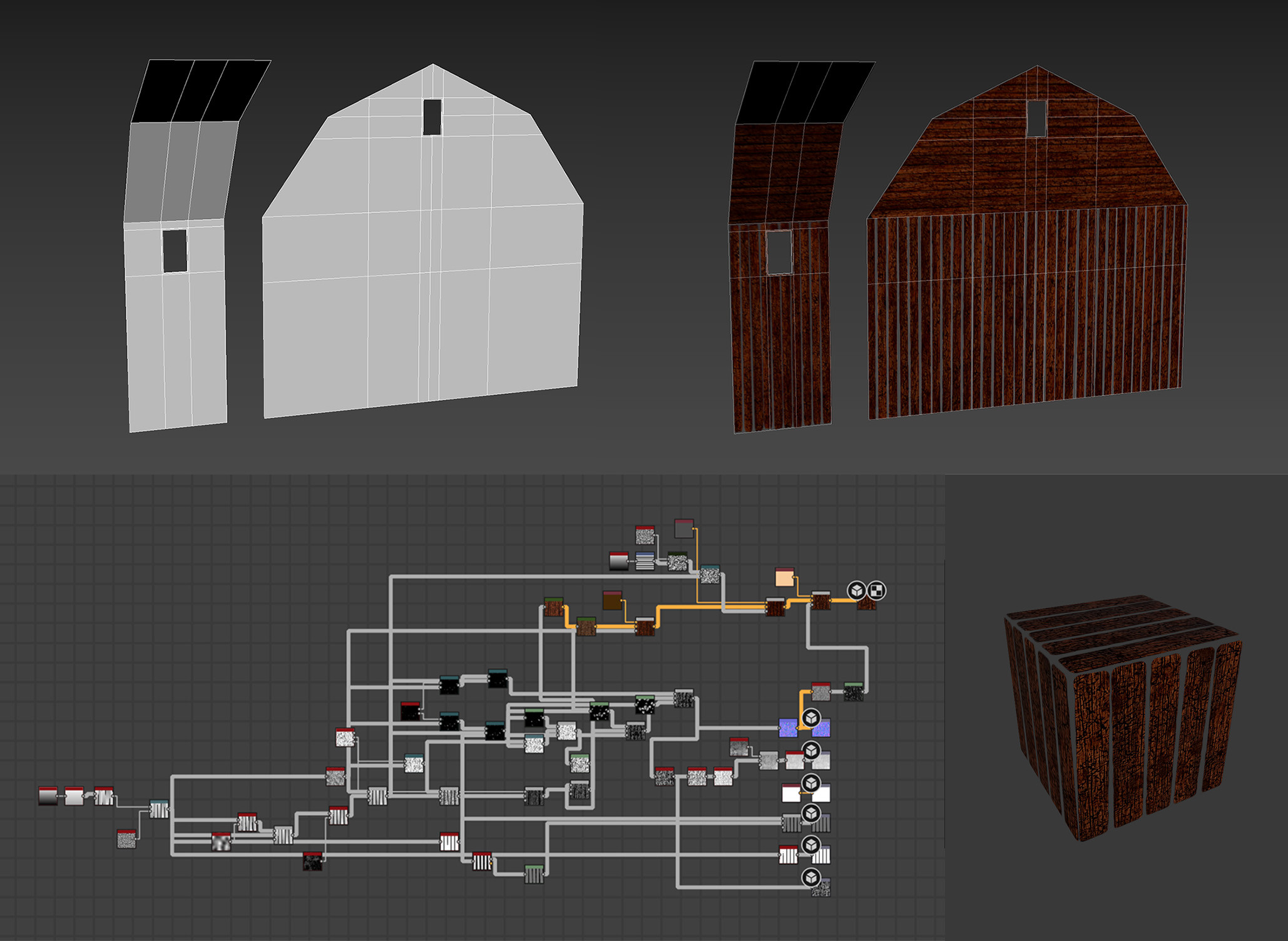 Barn textures made with Substance Designer