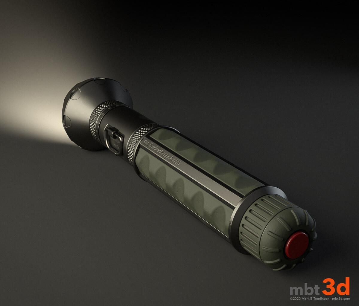 das Taschenlampe:
