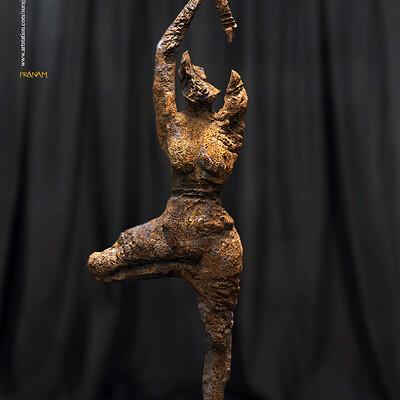 Surajit sen pranam digital sculpture surajitsen april2020s