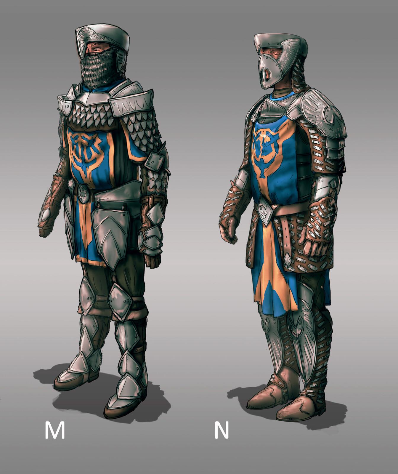 The Siege: Soldier Armor Designs 03 (120min)  // Fantasy / Medieval / Props / Design