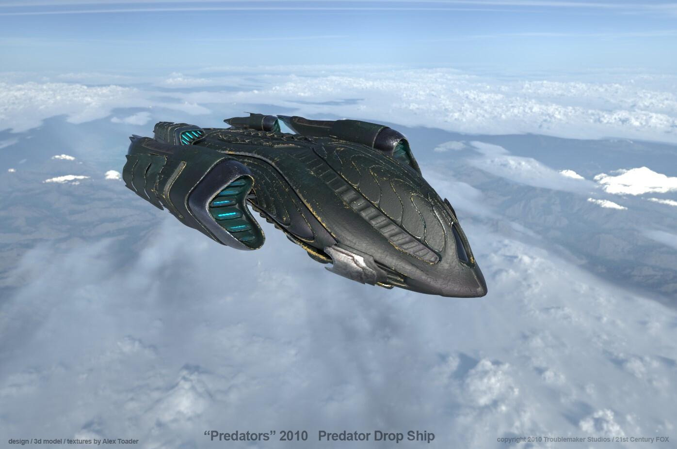 Predator DropShip over Sierras v5