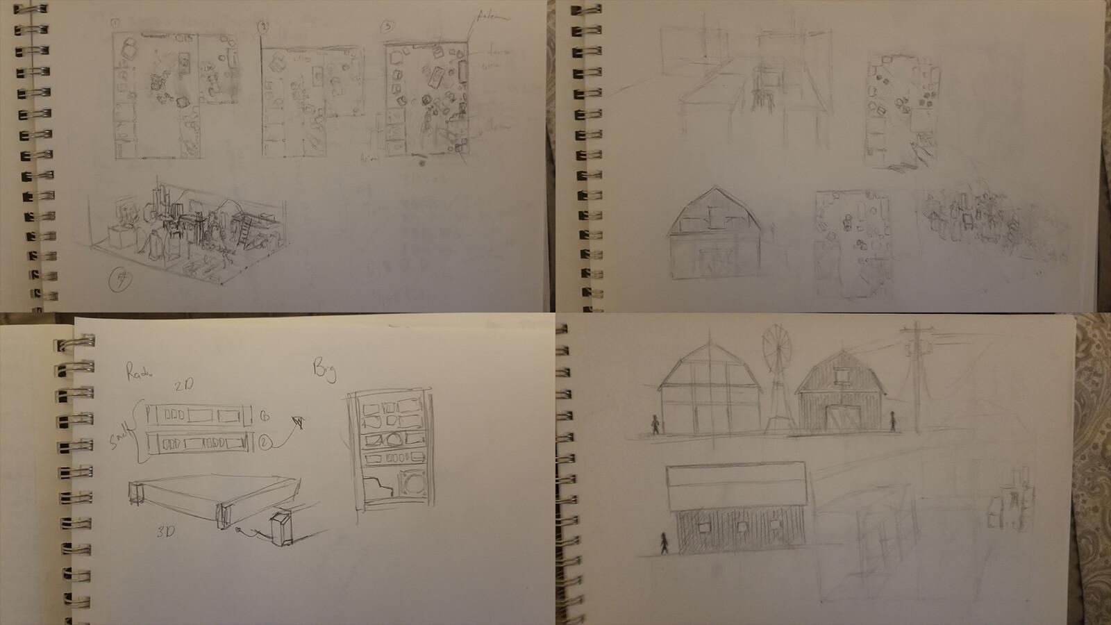 Drawing scene