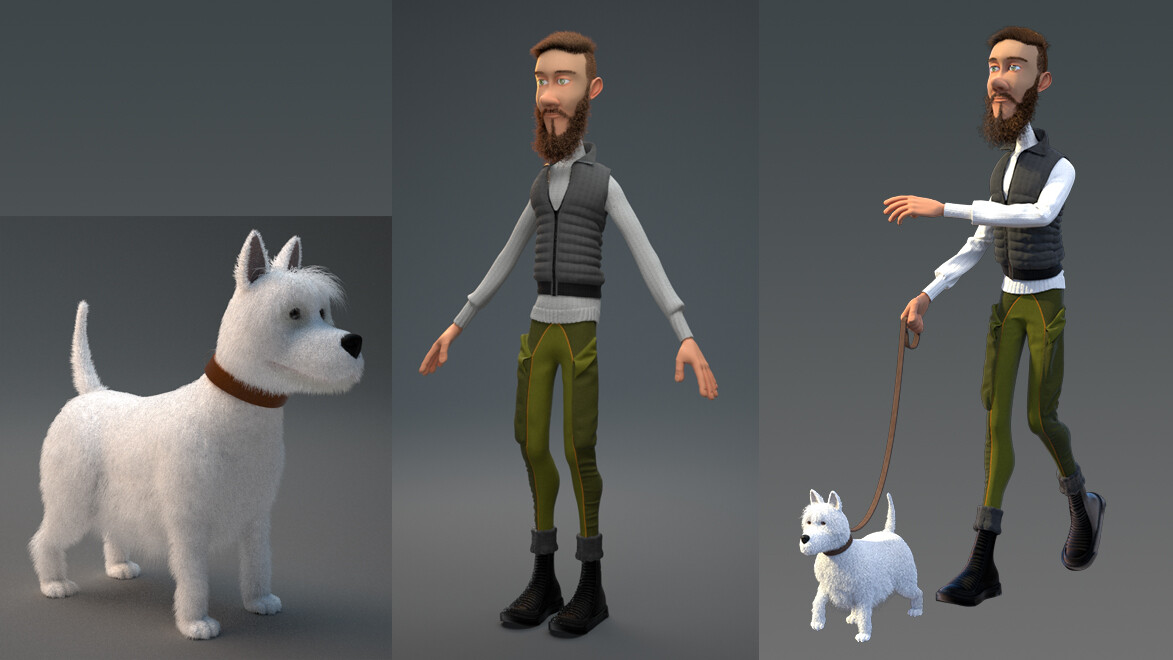 Character models textured.