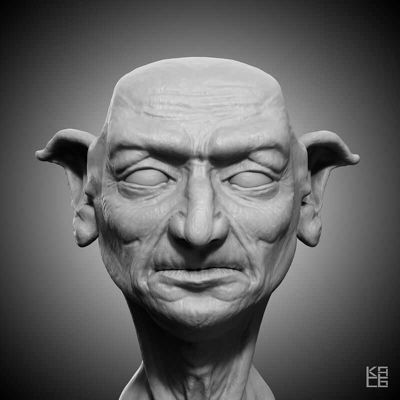 Blender Sketch: Old Goblin