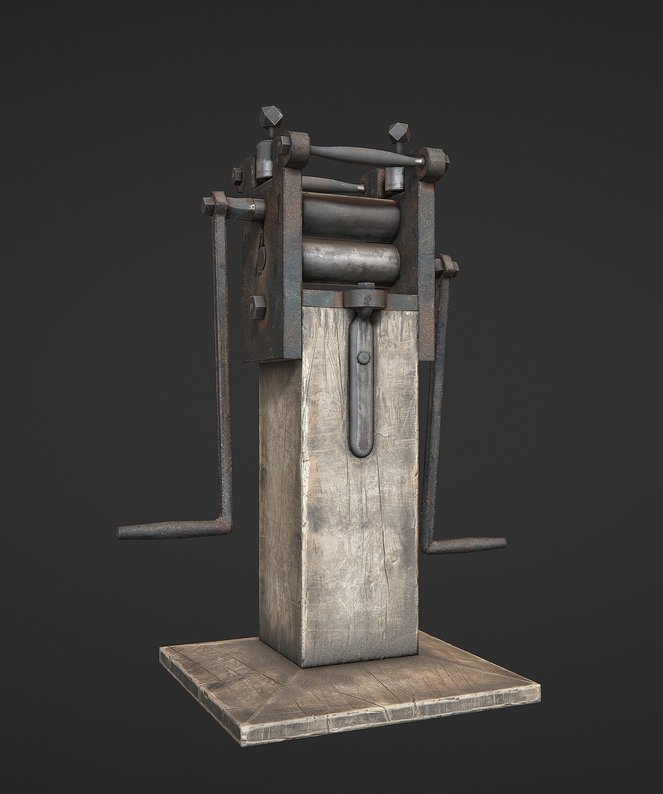 Hand-operated-metal-rolling_Mill