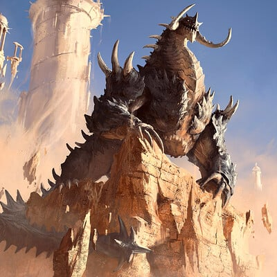 Eryk szczygiel typhonart stone dragon smaller